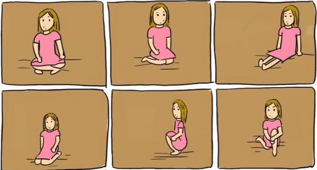 sitting on floor
