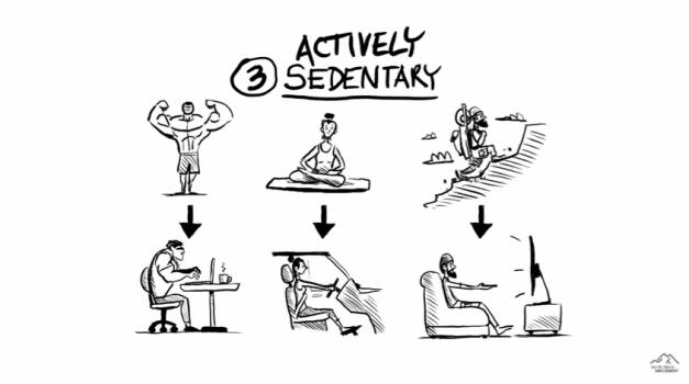 personas activas, pero sedentarias